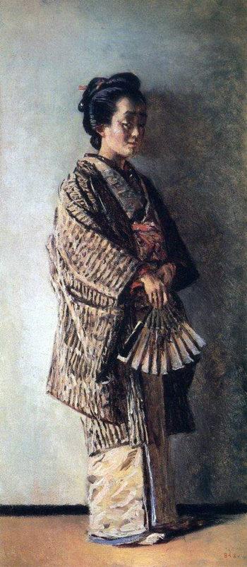 Japanese woman Around 1904 | Vasily Vereshchagin | oil painting