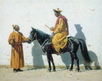 Kalmyk Lama 1869 1870 | Vasily Vereshchagin | oil painting