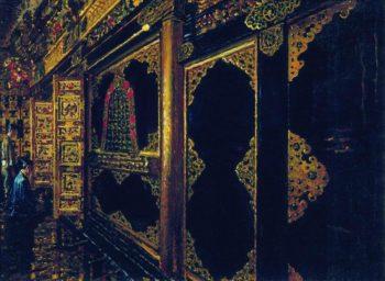 Temple in Tokyo 1871 1873 | Vasily Vereshchagin | oil painting