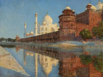 The Taj Mahal Evening | Vasily Vereshchagin | oil painting