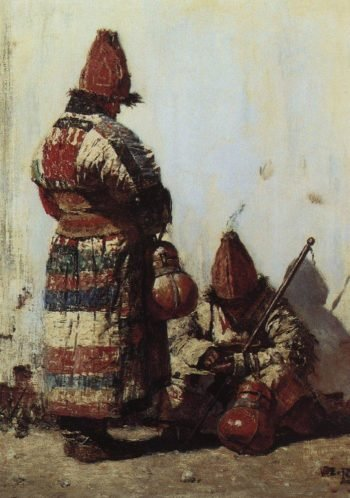 Uzbek sells cookware 1873 | Vasily Vereshchagin | oil painting