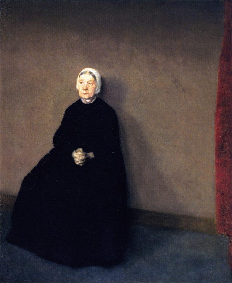 An Old Woman   Vilhelm Hammershoi   oil painting