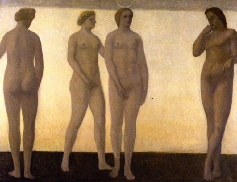 Artemis | Vilhelm Hammershoi | oil painting