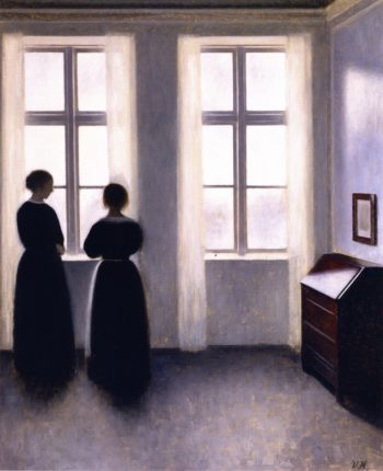 Figures by the Window | Vilhelm Hammershoi | oil painting