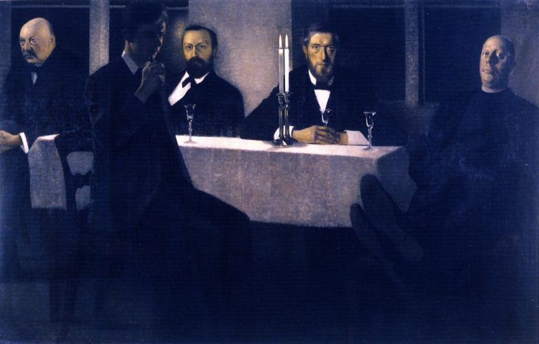 Five Portraits | Vilhelm Hammershoi | oil painting