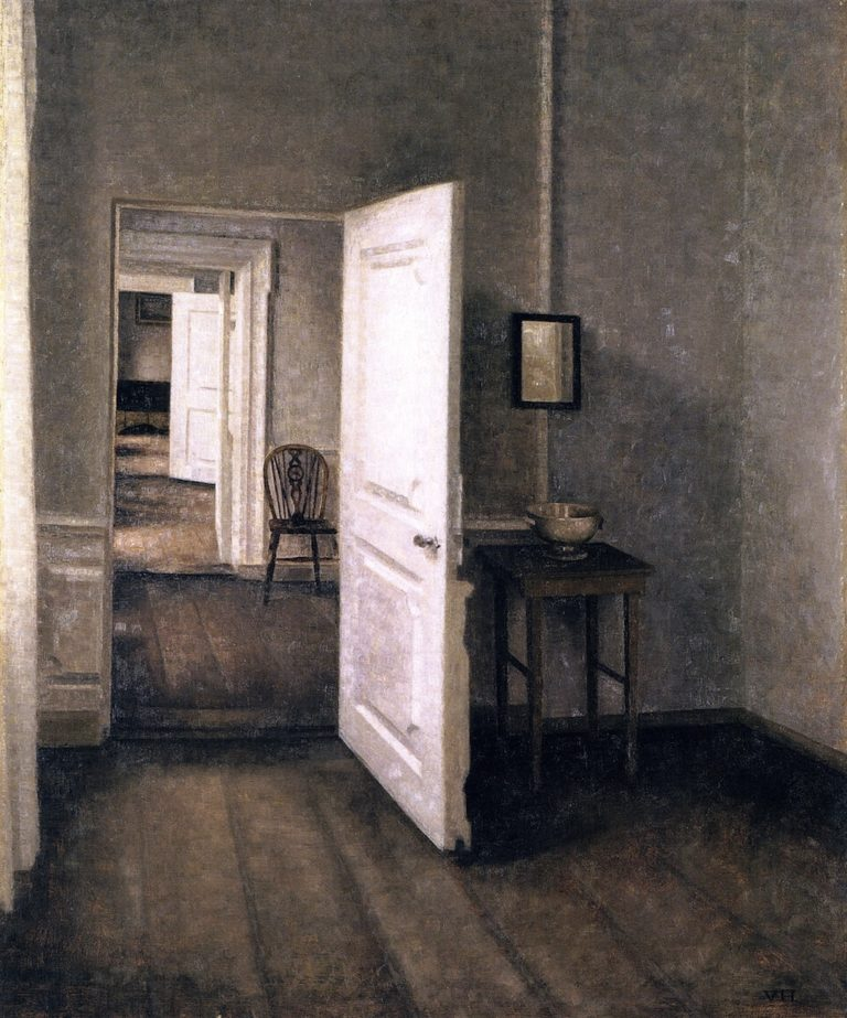 Four Rooms Interior from the Artist's Home Strandgade 25 | Vilhelm Hammershoi | oil painting