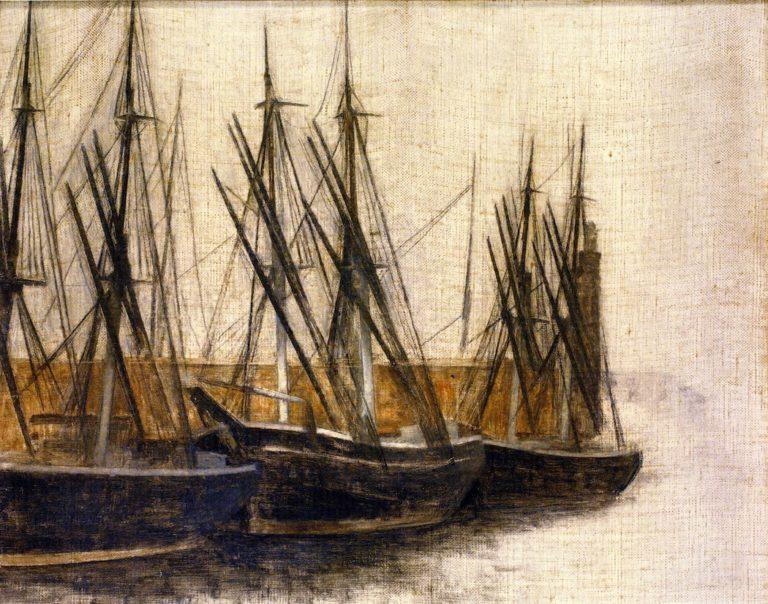 From Christianshavn's Canal Copenhagen | Vilhelm Hammershoi | oil painting