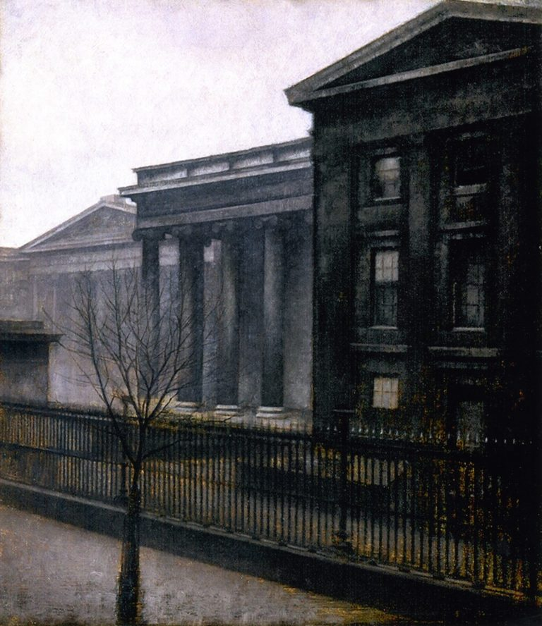 From the British Museum Winter | Vilhelm Hammershoi | oil painting
