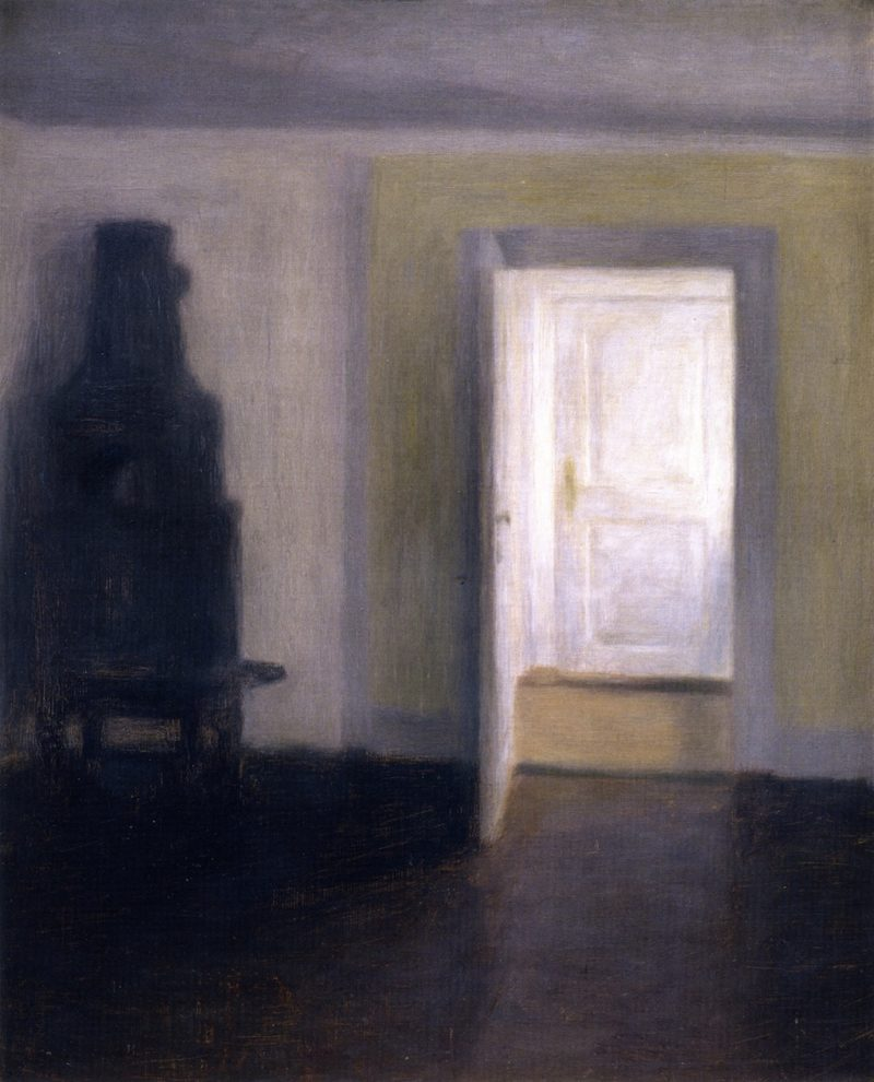 Interior An Old Stove Albertines Lyst Lyngby | Vilhelm Hammershoi | oil painting
