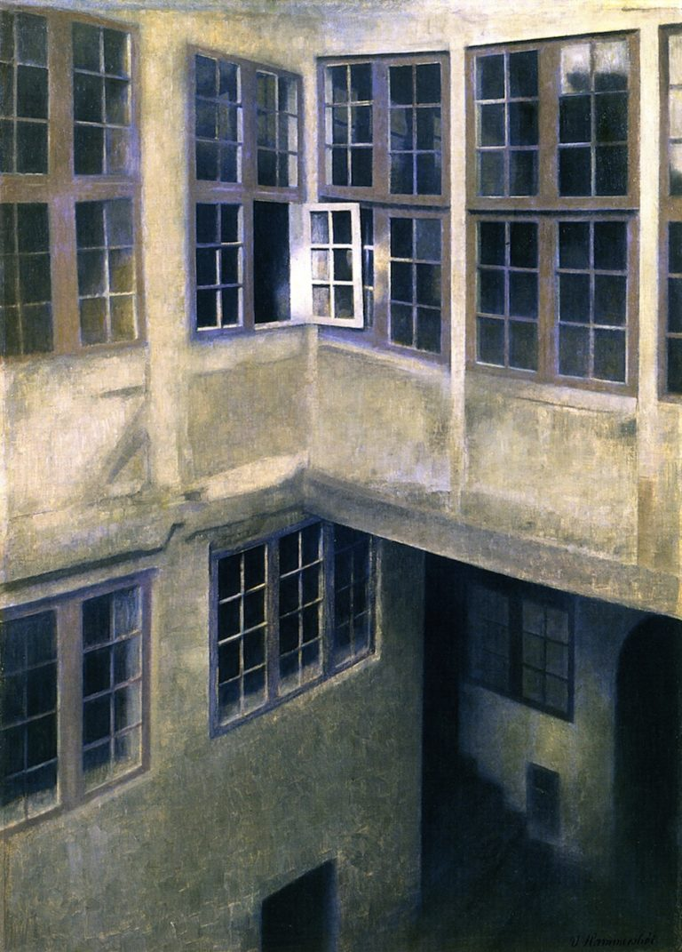 Interior of Courtyard Strandgade | Vilhelm Hammershoi | oil painting