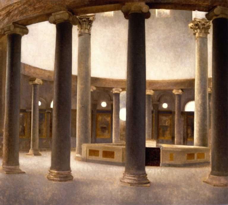 Interior of the Church of Santo Rotondo in Rome | Vilhelm Hammershoi | oil painting