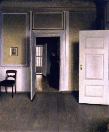 Interior Strandgade | Vilhelm Hammershoi | oil painting