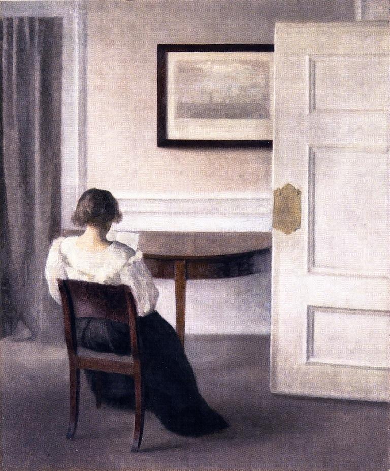 Interior | Vilhelm Hammershoi | oil painting