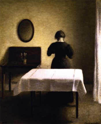 Interior | Vilhelm Hammershoi | oil painting