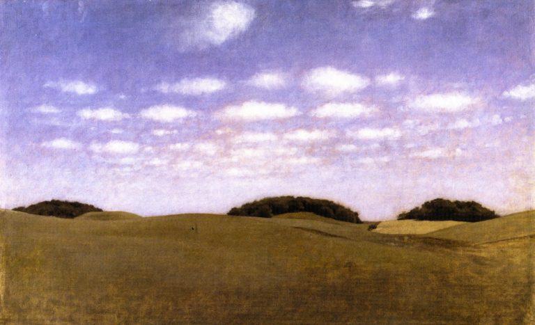 Landscape from Lejre | Vilhelm Hammershoi | oil painting