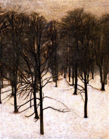 Landscape in the Snow | Vilhelm Hammershoi | oil painting