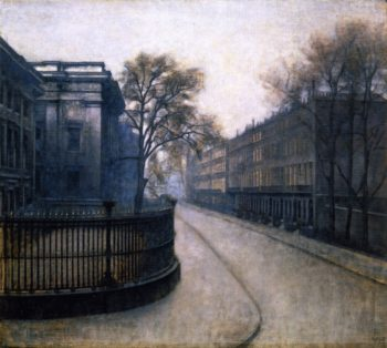 Montague Street in London | Vilhelm Hammershoi | oil painting