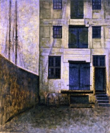 Old Warehouse Christianshavn | Vilhelm Hammershoi | oil painting