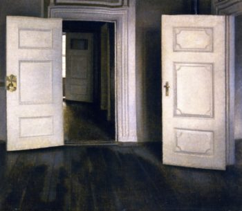 Open Doors | Vilhelm Hammershoi | oil painting