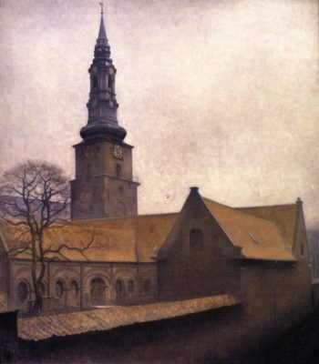 St Peter's Church Copenhagen | Vilhelm Hammershoi | oil painting