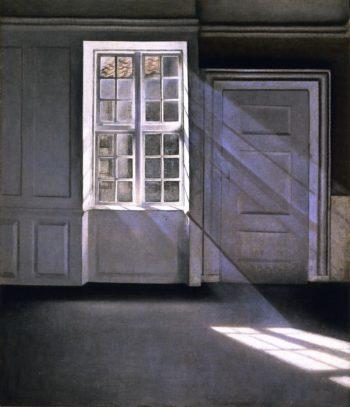 Sunbeams | Vilhelm Hammershoi | oil painting