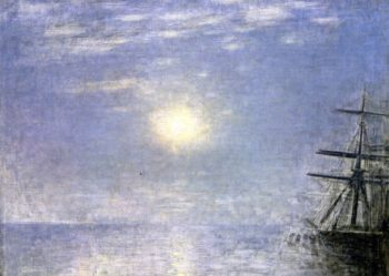 Sun over the Sea | Vilhelm Hammershoi | oil painting