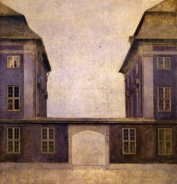 The Buildings of the Asiatic Company seen from St Anne Street | Vilhelm Hammershoi | oil painting