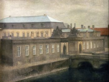 View of Christiansborg Castle Late Autumn | Vilhelm Hammershoi | oil painting