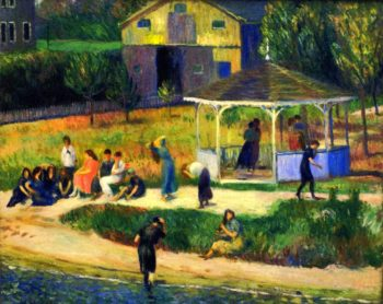 After Bathing Vacation Home | William James Glackens | oil painting