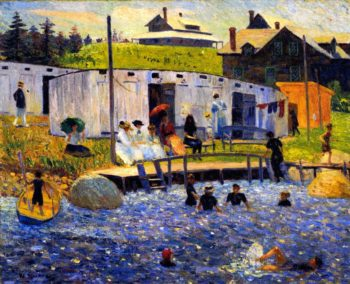 The Bathing Hour Chester Nova Scotia | William James Glackens | oil painting