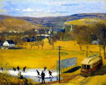 View of West Hartford | William James Glackens | oil painting