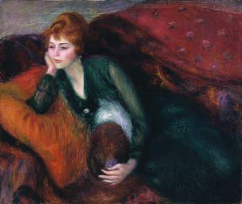 Young Woman in Green | William James Glackens | oil painting