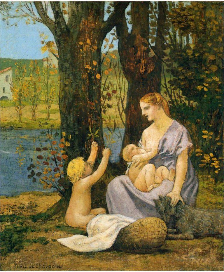 Allegory of Charity | Pierre Puvis de Chavannes | oil painting