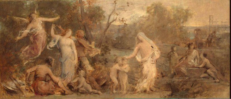 Allegory Of Life | Pierre Puvis de Chavannes | oil painting