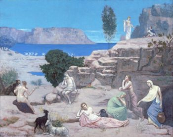Ancient Vision | Pierre Puvis de Chavannes | oil painting