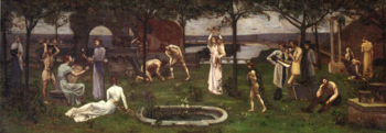 Between Art and Nature | Pierre Puvis de Chavannes | oil painting