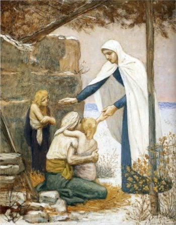 Charity | Pierre Puvis de Chavannes | oil painting