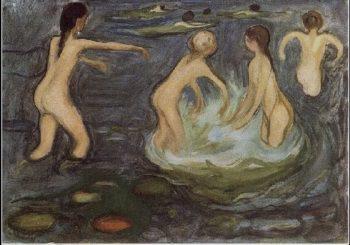 Bathing Girls | Edvard Munch | oil painting