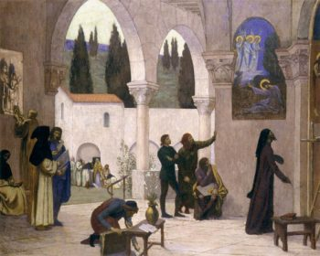 Christian Inspiration | Pierre Puvis de Chavannes | oil painting