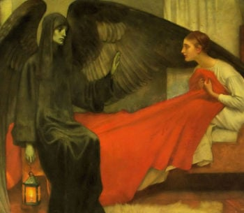 Death and the Maiden | Marianne Stokes | oil painting