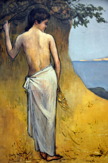Girl by the Sea | Pierre Puvis de Chavannes | oil painting