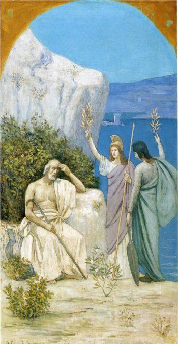 Homer Epic Poetry | Pierre Puvis de Chavannes | oil painting