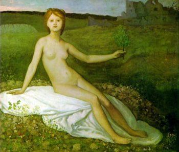 Hope | Pierre Puvis de Chavannes | oil painting
