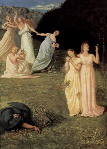 La Mort et les jeunes filles | Pierre Puvis de Chavannes | oil painting