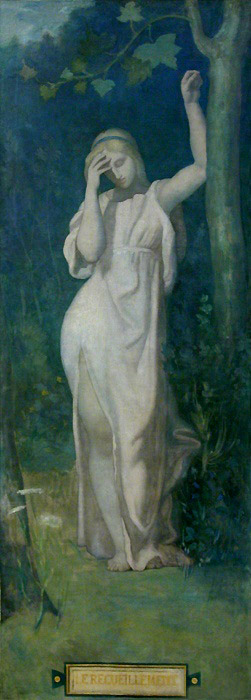 Le Recueillement | Pierre Puvis de Chavannes | oil painting