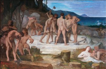 Le Travail | Pierre Puvis de Chavannes | oil painting