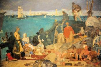 Marseilles Gate to the Orient | Pierre Puvis de Chavannes | oil painting