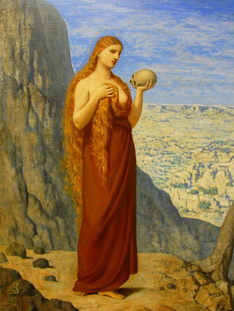 Mary Magdalene in the Desert   Pierre Puvis de Chavannes   oil painting