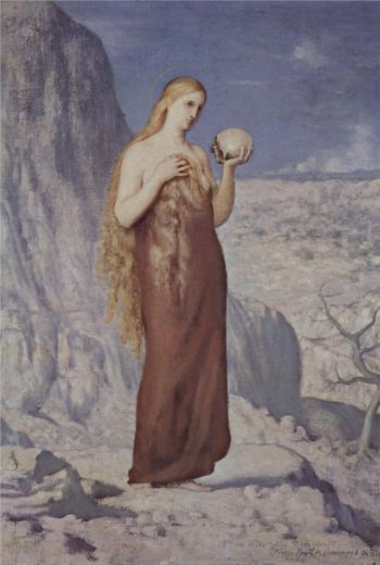 Mary Magdalene in the Desert | Pierre Puvis de Chavannes | oil painting