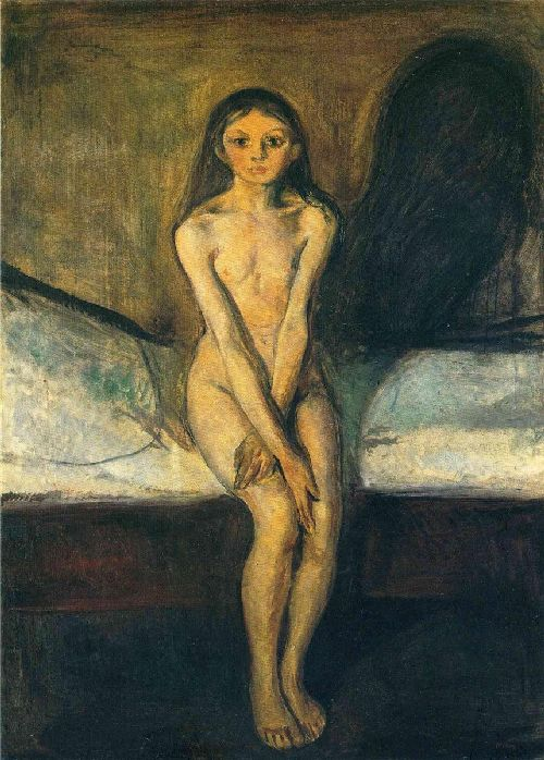 Puberty | Edvard Munch | oil painting